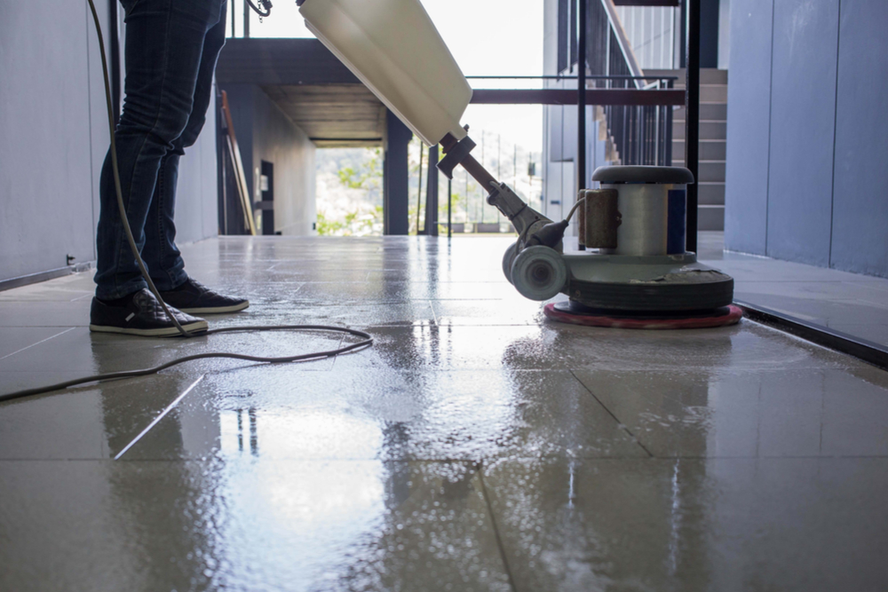 Types of cleaning services provided by a building maintenance company